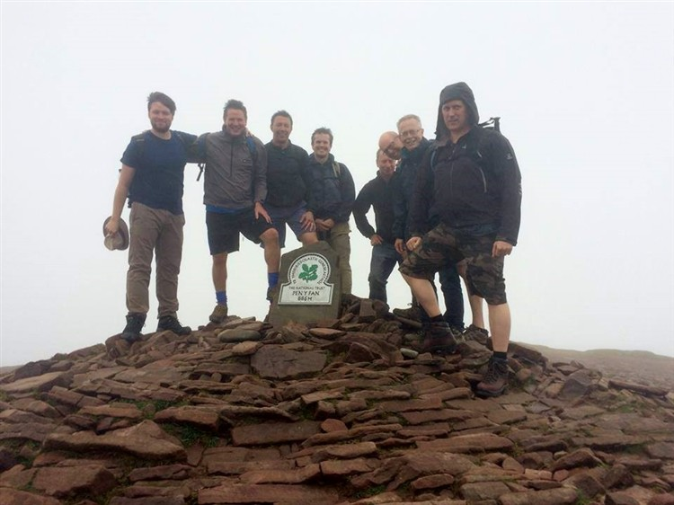 Men's Group at Pen Y Fan Summit